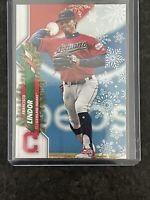 FRANCISCO LINDOR 2020 Topps Holiday SUPER RARE SSSP VARIATION Code 73 Indians