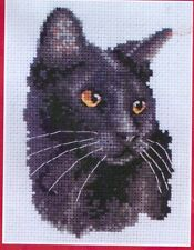 """Anchor Counted Cross Stitch Kit Black Cat PCE220 Coats Crafts UK 4.25"""" x 3"""""""