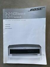 Bose 3-2-1 Series II 321 GS Series II Owner's Guide User Manual, Original