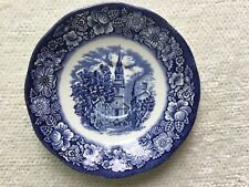 LIBERTY BLUE Saucer ~ Old North Church ~ MINT Condition Historic Colonial Scenes