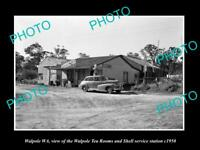OLD LARGE HISTORIC PHOTO OF WALPOLE WA, THE SHELL OIL SERVICE STATION c1950