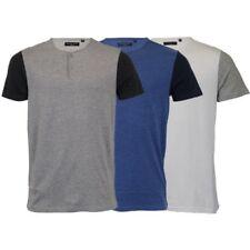 Mens T Shirt Brave Soul Short Sleeved Civil Cotton Top Grandad Neck Summer New