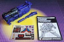 Vintage Transformers G1 Triple Changer Astrotrain w/Insts & Sticker Sheet