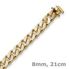 8mm Armband Armkette Panzerarmband 585 Gold Gelbgold 21cm Unisex Goldarmband