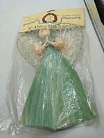 "8"" ABACA FLAT ANGEL MARTHA'S CRAFT SHOP NOS VTG SKILLFULLY CRAFTED XMAS ORNAMENT"