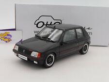 """Ottomobile OT796 # Peugeot 205 GTI Gutmann Baujahr 1988 """" schwarz """" 1:18"""