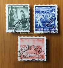 EBS East Germany DDR 1955 10 Years Land Reform Michel 481-483 CTO