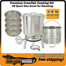 Crawfish Cooking Kit 82 Quart Premium Stainless Steel Great for Seafood Steaming