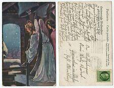 31678 - Engel läuten Glocken, Weihnachten - Ansichtskarte, gelaufen 30.12.1915