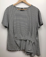 Curate By Trelise Cooper Striped Blouse Top Black White Shirt Size L
