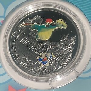 2011 silver fairy tale dragon Niue $1 proof complete