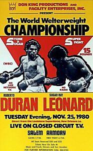 SUGAR RAY LEONARD vs ROBERTO DURAN 8X10 PHOTO BOXING POSTER PICTURE DON KING