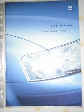 VW Passat Saloon range brochure 2000 model year Oct 1999