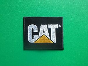 MOTOR RACING OILS, FUELS & TYRES SEW ON / IRON ON PATCH:- C.A.T. (a)