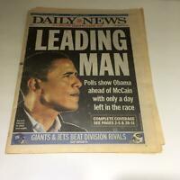 NY Daily News:11/3/08 Barack Obama in Ohio, Leading Man