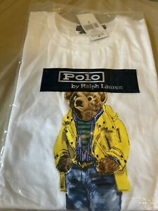 Polo Bear by Ralph Lauren Crew Neck White T-shirt M Medium