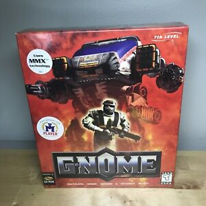 Sealed New! G-Nome by 7th Level  Vintage PC Game on CD-ROM - Rare  Big Box
