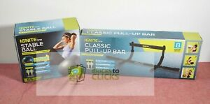 Ignite by SPRI Stable Ball Kit 65CM & Pull-Up Bar Lot x2