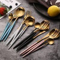 Dinnerware Set 304 Stainless Steel Cutlery Knife Spoon Fork Teaspoon Flatware