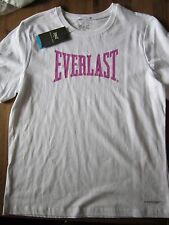 Kids T-shirt Everlast white with purple print size 14