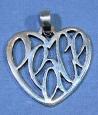 James Avery Sterling Silver Heart Peace Pendant