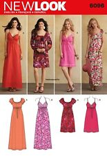 6096 MISSES' DRESSES Sewing Pattern NEW LOOK Sizes 4 - 16 Short or Long