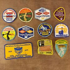 Lot of 11 Vintage ABC WIBC WISBA Bowling Patches