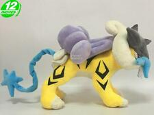 Big 12 inches Wow Pokemon Raikou Plush Stuffed Doll Soft PNPL5312