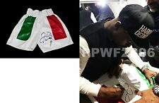 FLOYD MAYWEATHER JR HAND SIGNED AUTOGRAPHED BOXING TRUNKS WITH EXACT PIC PROOF 3