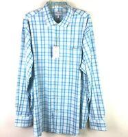 Peter Millar Men's L/S Blue Green Summer Comfort Button Front Shirt XXL NWT