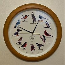 National Audubon Society Singing Bird Wall Clock, Faux Wood,  - 13.5""