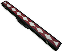SPEICAL OFFER - NEW PATCHWORK 2 PC 1/2 SNOOKER CUE CASE E6046-2