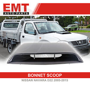 BONNET SCOOP COVER FOR NISSAN NAVARA D22 MATTE BLACK 2005 - 2015