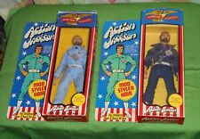 vintage Mego ACTION JACKSON FIGURE LOT x2 in boxes