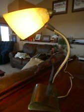 "Retro Mid century Fiberglass Gooseneck Lamp Leaves Desk Table 1960's Vintage 18"""