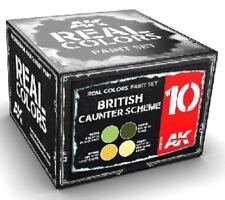 AK Real Colors RCS10 British Caunter Scheme Acrylic Lacquer Paint Set 4 10ml