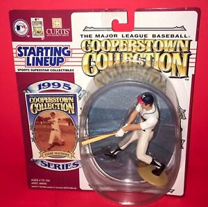 1995 EDDIE MATHEWS~COOPERSTOWN COLLECTION BASEBALL STARTING LINEUP~WITH CARD NEW