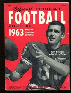 1963 NCAA Official Record Book John Simmons Tulsa Ex 15655