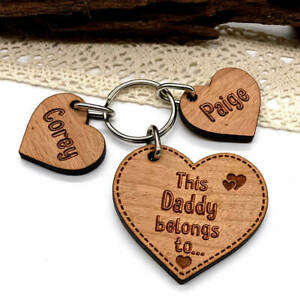 Personalised Gifts for him Keyring, Daddy Belongs To Father's Day, Birthday gift