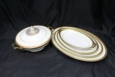 6 Piece Set Marquise by Thomas Bavaria China Cream with Gold Encrusted Band