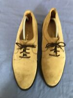 John White Suede Leather Spruce Brown Size 9 (D12)