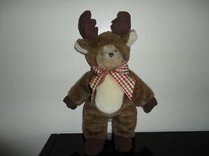 RARE Christmas Bearly A. Reindeer Bearington Bear Dressed As Deer Retired 14in.
