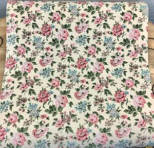 Vintage Schumacher Wallpaper shabby chic floral double Roll 70 Sq. Ft