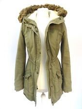 Girls HOLLISTER FISHTAIL Green SHERPA Fur HOOD PARKA Jacket Size SMALL #3500