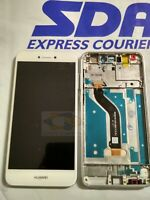TOUCH SCREEN DISPLAY LCD FRAME HUAWEI P8 LITE 2017 PRA-LX1 ORIGINALE BIANCO