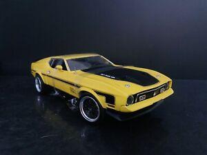 1971 Ford Mustang Mach 1 Yellow Custom 1/18 SunStar