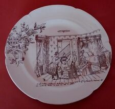 Assiette parlante VICHY AMELINE Antique French Majolica talking plate
