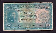 Portuguese Guinea 1964 100 escudos P-41a   G+/ VG