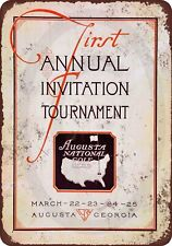"""1934 First Masters Tournament Vintage Rustic Retro Metal Sign 8"""" x 12"""""""