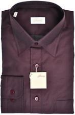 $ALE Brioni Shirt Cotton Size Small Burgundy 03SH0761 $525
